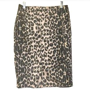 Mossimo Cheetah Leopard Pencil Skirt